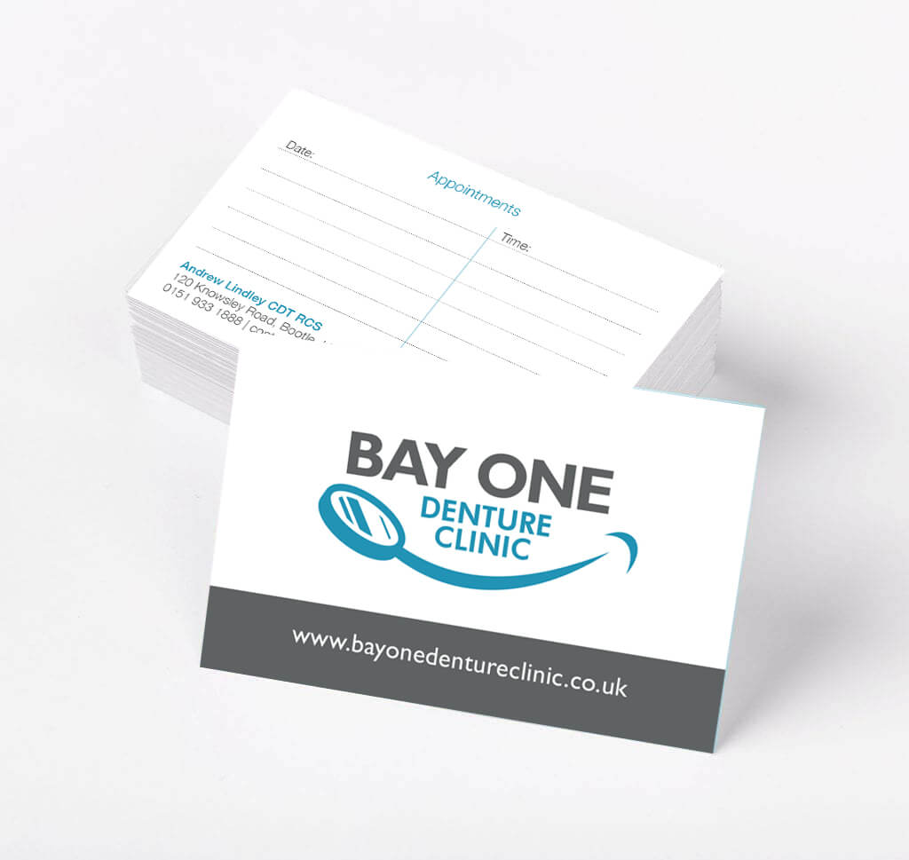 business card design - business cards for a denture clinic